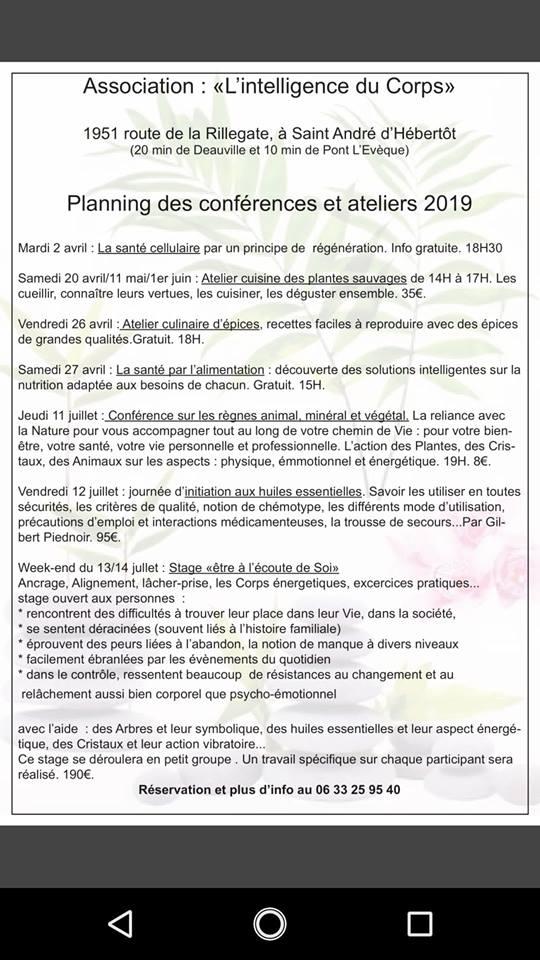 Association intelligence du corps- conférences et ateliers - Normandie - Bourg-La-Reine